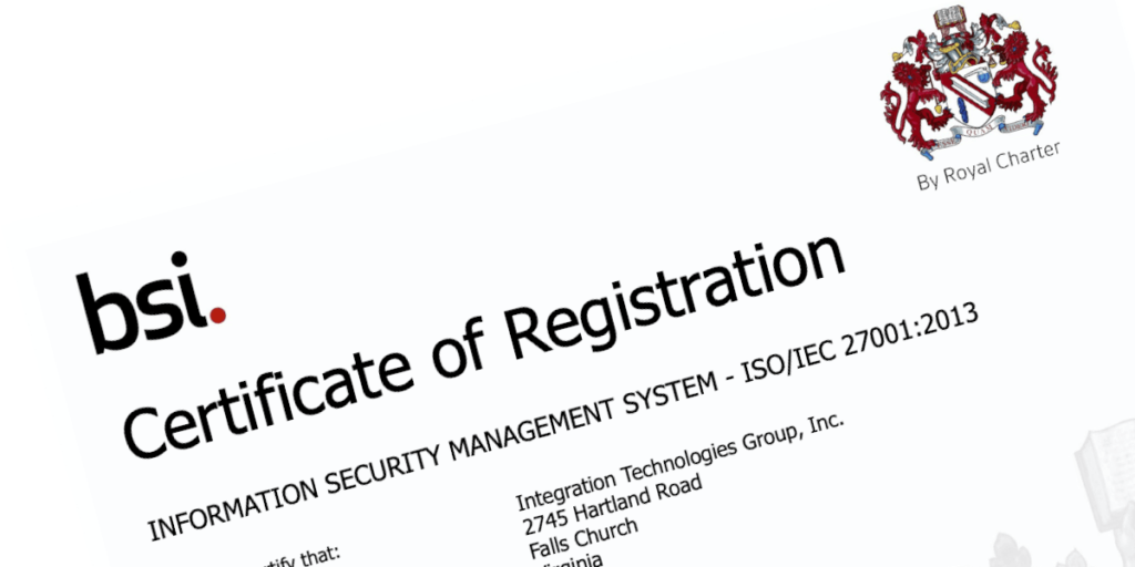 ITG ISO 27001 Certificate of Registration 535764