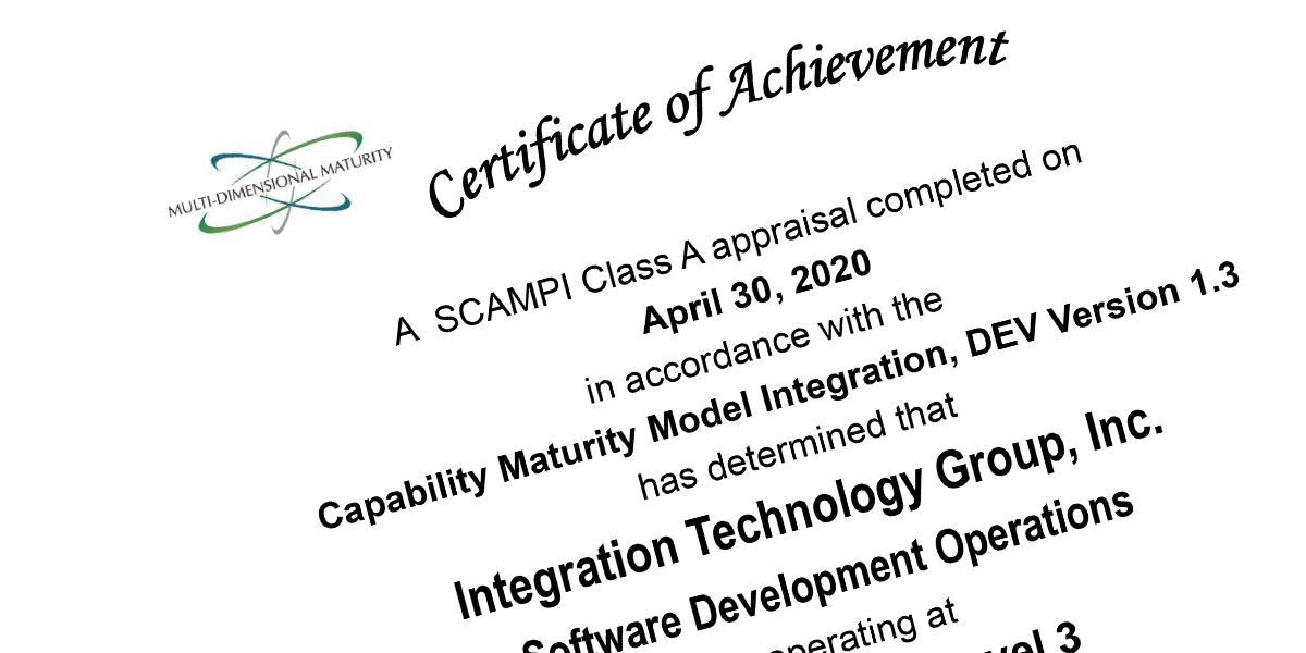 CMMI Development Certificate